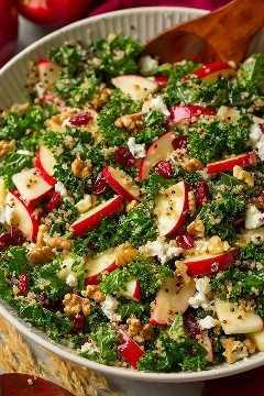 Ensalada de col rizada de manzana y quinua de otoño | Cocina con clase