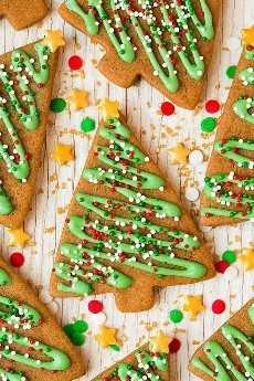 Galletas de jengibre árbol de Navidad.
