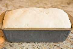 hogaza de pan sin gluten sin cocer