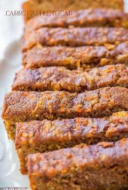 Pan de zanahoria y manzana: ¡pastel de zanahoria con manzanas añadidas y horneado como pan para que sea más saludable! ¡Súper húmedo, lleno de sabor, rápido y fácil!