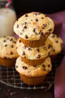 Muffins de chispas de chocolate estilo panadería   Cocina con clase