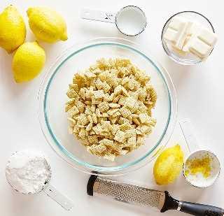 Ingredientes para Lemon Puppy Chow