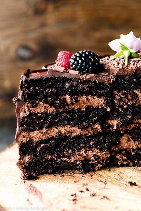 Pastel de chocolate de 4 capas