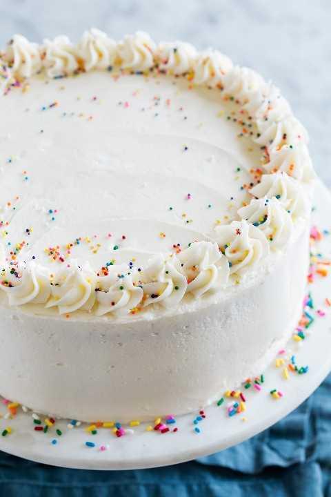 Cerrar imagen de un pastel de cumpleaños funfetti completo
