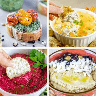 recetas de aperitivos del día del trabajo - collage