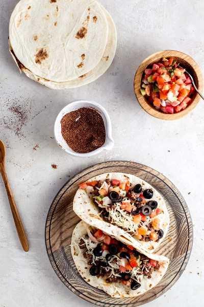 tacos con condimento casero para tacos