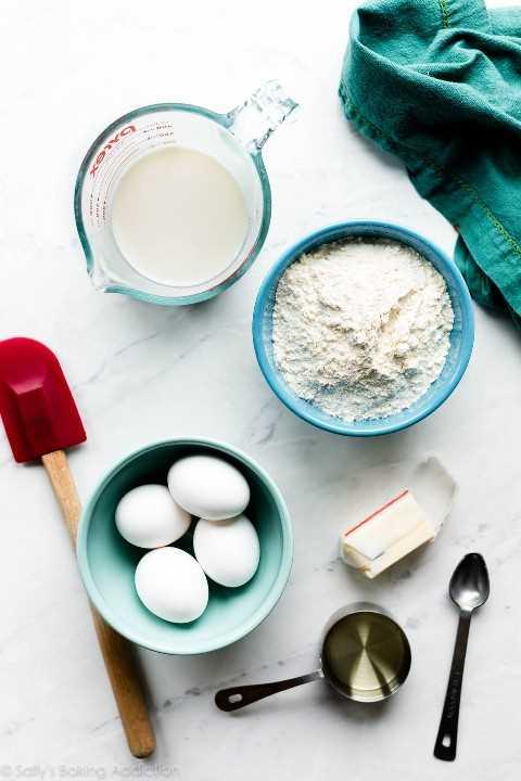 ingredientes para pasteles