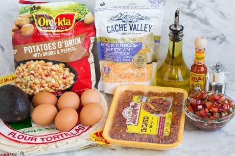 desayuno burrito ingredientes necesarios