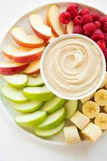 Dip de fruta de mantequilla de maní | Cocina con clase