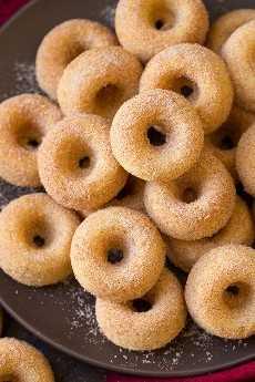 Mini Donuts de azúcar y canela al horno | Cocina con clase