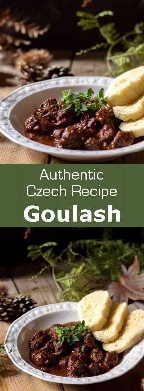 Goulash (guláš en checo) es un estofado de carne deliciosamente complejo originario de Hungría. Ha sido una receta reconfortante popular en la región centroeuropea de las montañas de los Cárpatos durante siglos. #Checo #Húngaro #ChecoChina #Cocina Húngara #Hungría #Stew #Sopa #Cocina Mundial # 196 sabores