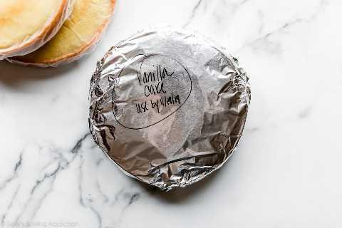 pastel envuelto para congelador