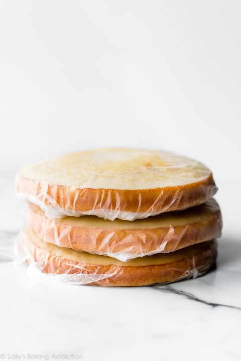 pasteles envueltos para congelar