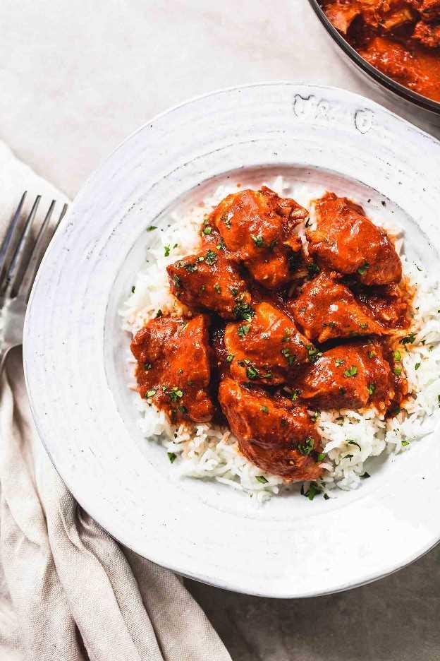 Instant Pot Chicken Tikka Masala receta de cena fácil | lecremedelacrumb.com