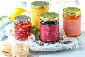 Costo más mercado mundial Downton Abbey conservas de frutas y miel.