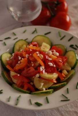 """un plato de ensalada serbia con pepinos, tomates, pimientos y queso """"data-pin-description ="""" La ensalada serbia se sirve muy comúnmente como guarnición o antes de una comida. Es una ensalada ligera y refrescante llamada shopska salata en Serbia. #serbia #serbiansalad #serbianfood #serbiancuisine """"width ="""" 680 """"height ="""" 1016 """"srcset ="""" https://juegoscocinarpasteleria.org/wp-content/uploads/2019/09/1567688142_888_Ensalada-serbia-con-queso-Sopska-Salata.jpg 680w, https : //www.internationalcuisine.com/wp-content/uploads/2019/09/DSC_0016-201x300.jpg 201w, https://www.internationalcuisine.com/wp-content/uploads/2019/09/DSC_0016-768x1147. jpg 768w, https://www.internationalcuisine.com/wp-content/uploads/2019/09/DSC_0016-600x896.jpg 600w """"tamaños ="""" (ancho máximo: 680px) 100vw, 680px"""