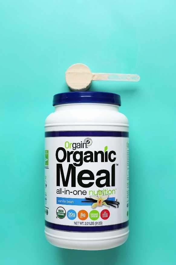 Orgain revisión de polvo de proteína de vainilla vegana