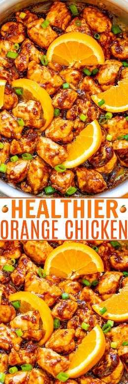 Pollo anaranjado más saludable: ¡deje de pedir comida para llevar o vaya al patio de comidas del centro comercial y haga este pollo naranja más saludable en casa en menos de 10 minutos! ¡FÁCIL, auténtico y tan INCREÍBLE que nunca te perderás la grasa y las calorías!