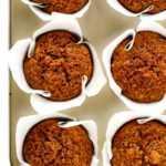 Muffins saludables de calabaza