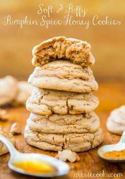 Galletas suaves y esponjosas de miel y especias de calabaza: ¡galletas súper suaves que se derriten en la boca! ¡Te van a encantar estas bellezas hinchadas!