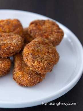 Nuggets de kalabasa y carne en conserva