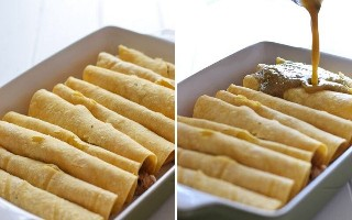 Como hacer enchiladas verdes