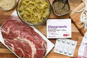 Descripción general de los ingredientes del control deslizante de carne italiana.