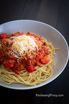 Receta de espagueti con carne