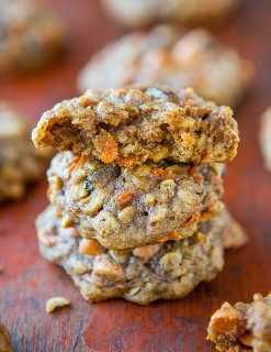 Galletas de pastel de zanahoria con especias suaves y masticables (¡no cakey!) Averiecooks.com