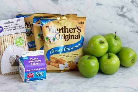 ingredientes de manzana de caramelo