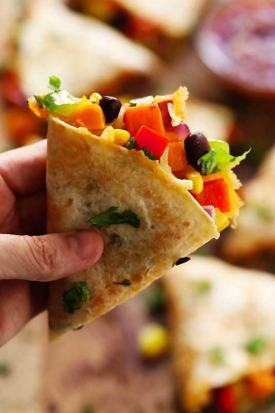 Receta Vegetariana de Quesadilla