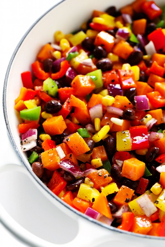 Salteado de verduras para quesadillas