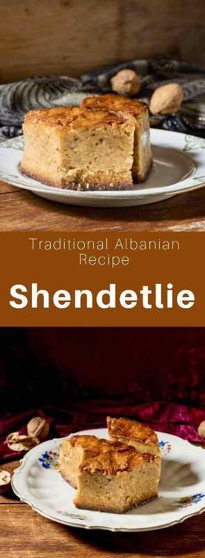 El shendetlie es un delicioso pastel tradicional originario de Albania, hecho de miel y nueces y empapado en un jarabe de azúcar. #Albania #AlbanianRecipe #AlbanianCuisine #Balkans #WorldCuisine # 196flavors