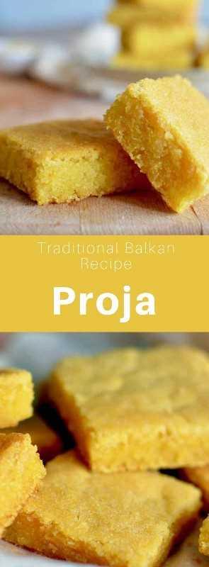 La proja es un pan plano tradicional de la región de los Balcanes que está hecho de harina de maíz. Se llama proha en Bosnia y Herzegovina. #Bosnia #Bakans #WorldCuisine # 196flavors