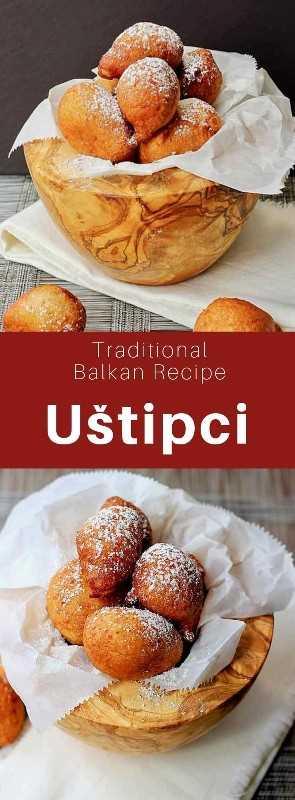 Uštipci son bolas de masa fritas que son populares en Bosnia y Herzegovina, Croacia, Macedonia del Norte, Serbia y Eslovenia, donde se les conoce como miške. #Croacia #Bosnia #Macedonia #Serbia #Slovenia #Balkans #WorldCuisine # 196flavors
