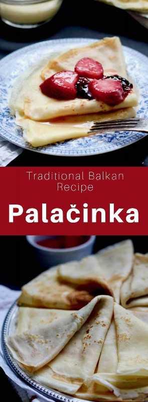 Un palačinka es una variedad de crepe delgado de origen griego y romano que es popular en Europa central y oriental. #Macedonia #Balkans #WorldCuisine # 196flavors