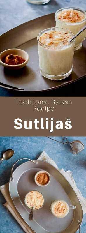Sutlijaš o sutlija es un budín de arroz dulce con sabor a canela típico de los Balcanes y Turquía. #Balkan #BalkanCuisine #BalkanRecipe #Turkey #TurkishCuisine #WorldCuisine # 196flavors