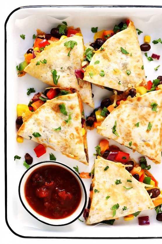 Quesadillas vegetarianas fáciles