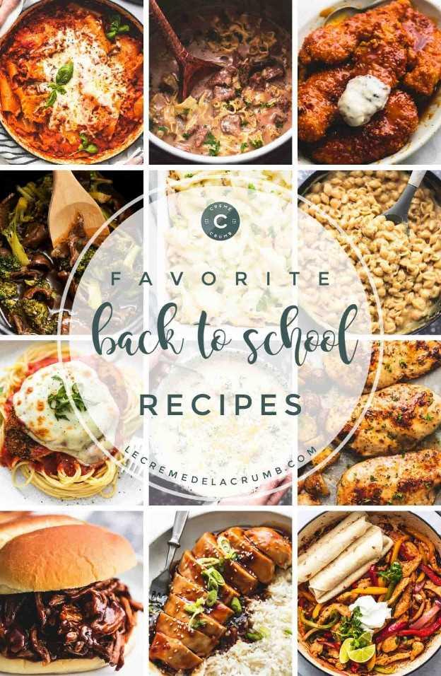 Recetas fáciles y familiares para el regreso a la escuela | lecremedelacrumb.com