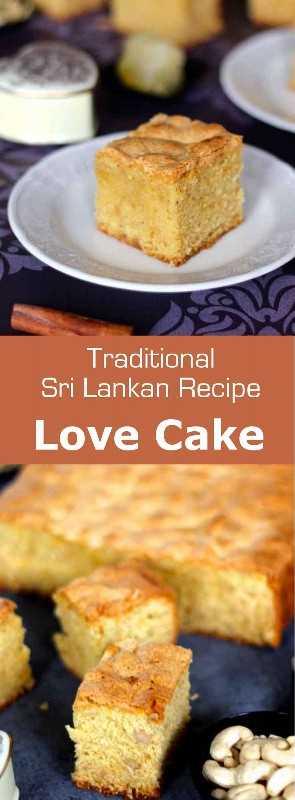 O bolo do amor é um bolo tradicional do Sri Lanka feito de castanha de caju, grãos e melão de inverno cristalizado chamado puhul dosi. É perfumado com rosa, canela, cardamomo com limão e noz-moscada. #SriLanka #SriLankanCuisine #SriLankanCake #Bolo #Receita de Bolo