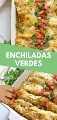 Estas Enchiladas Verdes semanales están hechas con pollo y cubiertas con una salsa verde fácil. ¡Horneados a la perfección, hacen una gran cena y sobras sabrosas que todos estarán encantados de comer! #Enchiladasverdes #chickenenchiladas #easyrecipe #mexicanfood