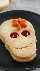 galletas de linzer de calavera de halloween