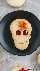 galletas de halloween cráneo linzer