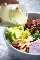 Ensalada de brócoli y manzana con aderezo de semillas de amapola (sin mayonesa) receta fácil de ensalada | lecremedelacrumb.com
