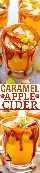 Sidra de Manzana Caramelizada - ¡Sidra de manzana caliente enriquecida con extractos de canela, arce y almendras, trozos de manzana, y las tazas están bordeadas con salsa de caramelo salado casero celestial! ¡RÁPIDO, FÁCIL y DELICIOSO!