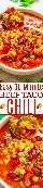 Chile de taco de carne de res en 30 minutos: ¿no tiene todo el día para que el chile hierva a fuego lento? ¡¡No hay problema!! ¡Este FÁCIL y abundante chile lleno de sabores de inspiración mexicana está listo en 30 minutos! ¡Si te gustan los TACOS, te ENCANTARÁ este chile!