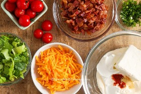 BLT Dip ingredientes.