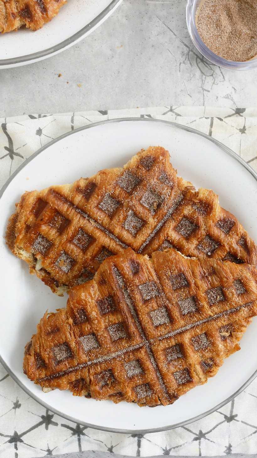 sandwich de croissant de nutella