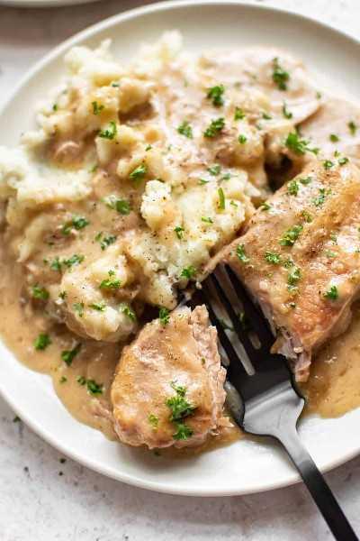 chuletas de cerdo Crock-Pot tiernas