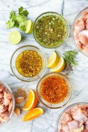 Pollo de preparación de comidas - 3 maneras - ¡Cómo preparar pollo de comida durante toda la semana! Salsa verde, limón, pimienta + naranja marinadas de pollo incluidas. ¡TAN BUENO, TAN FÁCIL!